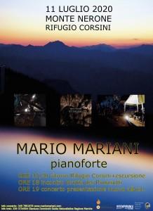 Mario Mariani - locandina concerto 11lug2020 Monte Nerone x web